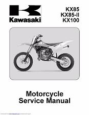 Kawasaki service workshop manual 2014 KX85, KX85-II & KX100