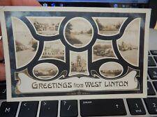 More details for west linton vintage postcard   hj