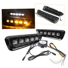 Pair LED Daytime Running Light DRL Lamp for Ford F-150 16-18 Raptor White/Yellow