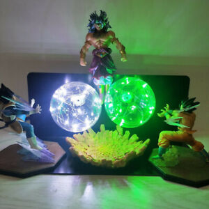 Dragon Ball Z Goku Vegeta VS Broly LED Night Lamp Figure Model Toy Decoration