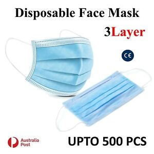 Disposable Face Mask Protective Masks 3 layer Meltblown Filter Daily Use UP 500x