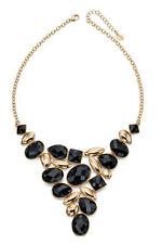 Fiorelli Costume Jewellery Black And Gold Bib Necklace 43+5Cm