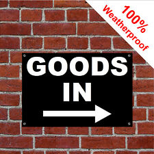 Goods in with right arrow sign Warehouse Shop Stores 9163