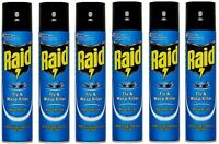 6x Raid Fly & Wasp Killer 300ml Repellent Kills Flying Insect Mosquito Moth Gnat