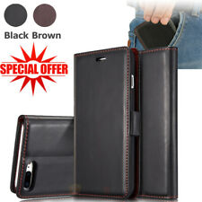 Genuine Soft Leather Flip Wallet Card Case Cover Skin For iPhone 7/7 Plus