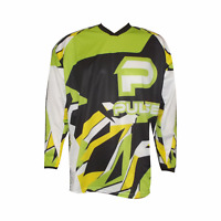 PULSE STORM KIDS GREEN & YELLOW MOTOCROSS MX QUAD ATV BMX MOUNTAIN BIKE JERSEY