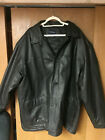 3xl mens leather coat black button down  cell phine pocket inside see note: