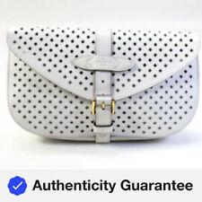 Louis Vuitton Flore Сомюр кожаный клатч с зеркалом белый