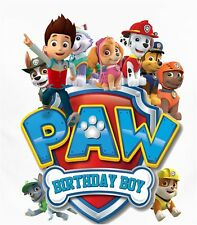 :::::::::::::::::PAW PATROL BIRTHDAY BOY::::::::::::::::SHIRT IRON ON TRANSFER