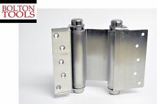 "Door Hinges 2 pcs 6"" Inch Double Action Spring Hinge Saloon Cafe Satin Nickel"