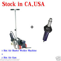USA Weldy 220V 40mm Plastic Powerful Hot Air Roofer Welder Machine+1 Hot Air Gun