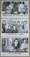 Vintage 1962 MERCURY 7 FEMALE ASTRONAUTS Illustrated Current News Poster WOMEN