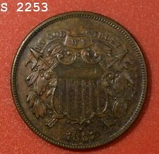 """1867 Two-Cent Piece """"XF/AU"""" *Free S/H After 1st Item*"""