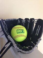 "WILSON A200 Dual Hinge 10 1/2"" Youth Black Baseball Glove & Ball - Left Hand NEW"