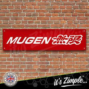 MUGEN BANNER HONDA JDM Banner Garage Workshop PVC Sign Car Display