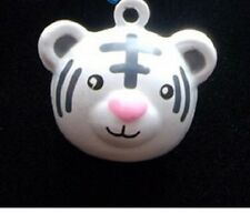 Dog collar metal bell charm / is your dog a bit of a Tiger / ring attached