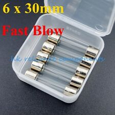 10, Glass Fuses 6G 15A F15A 6.35 x 30mm FAST ACTING QUICK BLOW UL LISTED