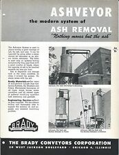 Equipment Brochure - Brady - Ashveyor - Ash Removal System - c1952 (E3314)