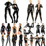 Sexy Women PVC Wetlook PU Leather Bodysuit Clubwear Costume Jumpsuit Catsuit Hot