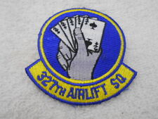 327th Airlift Sq Used Sew On Name Patch Tag