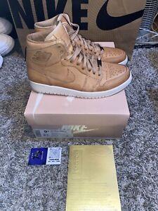 """Nike Air Jordan 1 Pinnacle """"Vachetta Tan/ Leather"""" Mens Size 9.5 - 705075-201"""