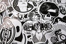 Sticker Bomb 60 pcs Stickers Decal Logo Tuning JDM Black White Emblem Vinyl