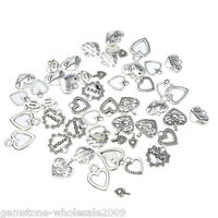 30PCS Wholesale W09  Mixed Heart Pendants  Charm Jewelry