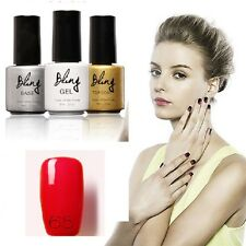VERNIS A ONGLE SEMI PERMANENT 3X6 ML BASE+GEL+TOP COAT-GELPOLISH-PROFESIONNEL