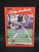 "RICKEY HENDERSON  1990 Donruss No Dot After ""Inc"" Error Card HOF MINT"