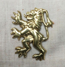 Brass Lion Rampant badge