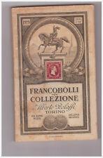 CATALOGO   ALBERTO BOLAFFI    FRANCOBOLLI PER COLLEZIONE   1929