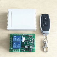 Wireless Remote Control Switch Relay 220V 2CH Receiver Module+RF 433Mhz