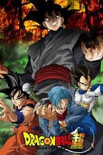 Dragon Ball Super/Z Poster Black Goku/Trunks Saga 12in x 18in Free Shipping