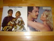 THE CAPTAIN & TENNILLE 2 LP LOT ALBUM VINYL COLLECTION Love will/Make Your Move