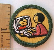 Retired Girl Scout Junior CYBER SCOUT BADGE Computer Internet Website Chat Patch