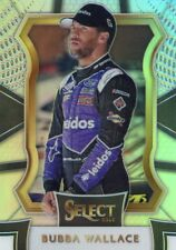 2017 PANINI SELECT RACING NASCAR SILVER PRIZM PARALLEL BUBBA WALLACE NO. 99