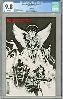 Dark Nights Death Metal #1 CGC 9.8 Sketch Cover Edition Variant Capullo Glapion