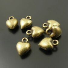 80pcs Vintage Bronze Alloy 7x7mm Hearts Pendant Charms DIY Accessories 33123