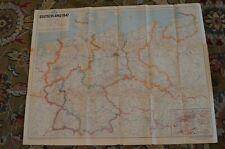 Original Vintage Wwii Deutschland 1947 Landkarten Map