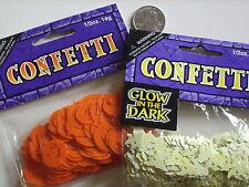 Halloween  Confetti  Ghosts Glow In The Dark   Pumpkins  1 Each, Parties  Crafts