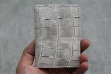 Crocodile Leather Credit Card Holder DOUBLE SIDE Genuine ALLIGATOR Leather SKIN