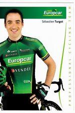 CYCLISME carte cycliste SEBASTIEN TURGOT équipe EUROPCAR 2012