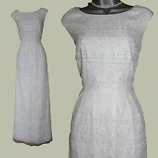 MONSOON Ivory Tulle Embellished Simple Elegant Wedding Maxi Dress  UK 12 EU 40