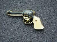 VINTAGE METAL PIN COWBOY SIX GUN REVOLVER PISTOL