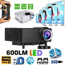 Mini 1080P Portable Pocket Projector Movie Video Projectors Home Theater Hdmi