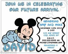 Mickey Mouse Baby Shower Invitations Personalize 12pk ANY CHANGES OK