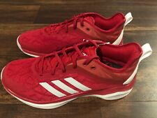New Adidas Speed Trainer 4 Mens Baseball Turf Training Shoes Size 8 Red White