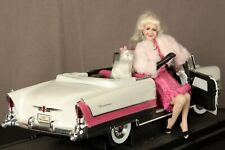 Blonde Lady Doll Pink & White Dress, 1955 Packard Caribbean; Poodle, Luggage