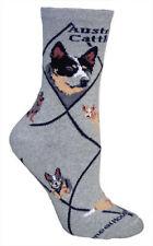 Australian Cattle Dog Animal Socks On Gray 9-11