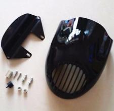 Cafe Racer Finned Headlight Grill Fairing Visor Mask For Harley 883 1200 XL XLH